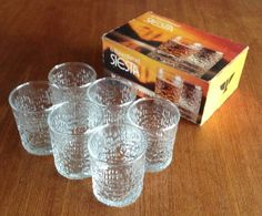 I'd forgotten all about this sort of glass yet it was everywhere in the seventies. I still have these
