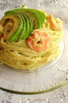 Chilled Pasta with Shrimp and Avocado Wine Recipes, Asian Recipes, Great Recipes, Cooking Recipes, Healthy Recipes, Japanese Recipes, Japanese Food, Avocado Recipes, No Cook Meals