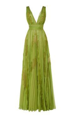 Yurui Printed Silk-Chiffon Gown by Zuhair Murad Ball Dresses, Ball Gowns, Formal Dresses, Prom Dresses, Pretty Outfits, Pretty Dresses, Zuhair Murad Dresses, Chiffon Gown, Costume