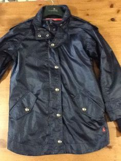 Joules Diana Coat / Jacket In Navy. BNWT. Size 16.  RRP £109. Showerproof.