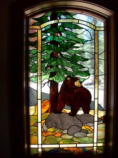 I just had to pin this one after visiting Sequoia Park and seeing four Black Bears. #StainedGlassHouse