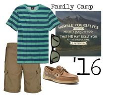 """""""Family Camp, Max"""" by oviattmia on Polyvore featuring Armani Jeans, Volcom, Sperry, Ray-Ban, men's fashion and menswear"""