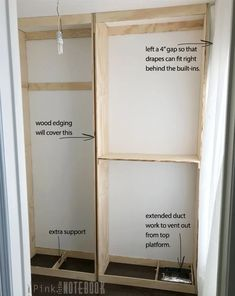 Installing our own Built-In Closet System (with pricing) - Pink Little NotebookPink Little Notebook Diy Built In Wardrobes, Bedroom Built In Wardrobe, Closet Built Ins, Bedroom Closet Design, Wardrobe Closet, Closet Designs, Closet Space, Small Built In Wardrobe Ideas, Alcove Wardrobe
