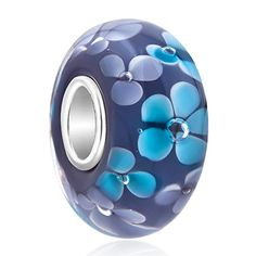 Uniqueen Jewellery Murano Glass Bead On Sterling Silver Core For European Charm Bracelets XWzjB