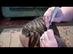 Video tutorial for the waterfall braid. When I started hair school no one had ever heard of this braid. I was doing it on the girls and impressing all of them, not EVERYONE knows and loves the waterfall braid!