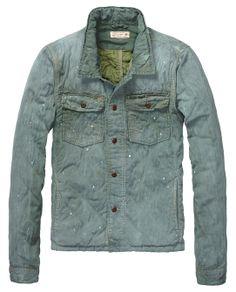 Denim jas in shirt-stijl