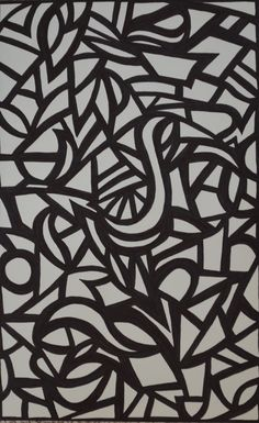 Black and white sharpie art - coloring page - SF