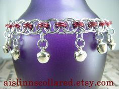 Silver and Red Chainmaille BDSM Slave/Belly by aislinnscollared