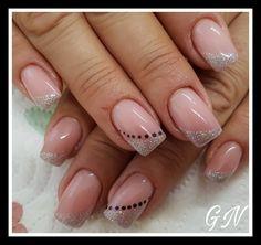 Square Nail Designs, Elegant Nail Designs, Colorful Nail Designs, Beautiful Nail Designs, Beautiful Nail Art, Nail Art Designs, Glamour Nails, Classy Nails, Stylish Nails