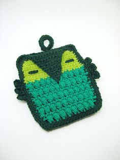 Owl Potholder Crochet Pattern  Who cooks for you by RepublicOfYarn, $3.00
