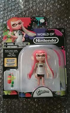 World Of Nintendo 4 Action Figure Splatoon Inkling Girl Brand NewShips Safely