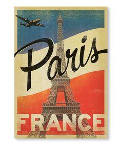 French Flag 'Paris' Wall Art