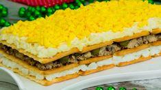 "Va arăta extraordinar pe masa de Revelion! Cel mai gustos aperitiv ""Gingășie"". - savuros.info Sandwiches, Food, Youtube, Yule, Pie Recipes, Salads, Lunches, Seafood, Tasty"