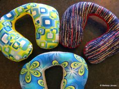 Kid's travel neck pillows DIY - If I knew back then what I know now...my kids would have had these in the car =)