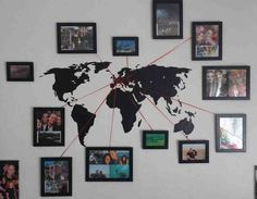 Vacation Memory Photo Map ...........http://diyfunideas.com ============BEST DIY SITE EVER!