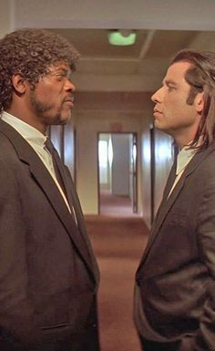 "Jackson and John Travolta in ""Pulp Fiction"" L. Jackson and John Travolta in ""Pulp Fiction"" Love Movie, Movie Stars, Movie Tv, Film Science Fiction, Quentin Tarantino Films, Movies And Series, Kino Film, Film Serie, Shows"
