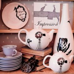 Ceramics by Tamarillo, Cape Town, South Africa South African Design, South African Weddings, Ceramic Design, Africa Fashion, Worlds Of Fun, T 4, Windmill, Ceramic Pottery, Home Accessories