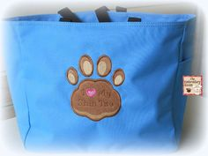 Tote I Love My Shih Tzu by Theembroideryroom on Etsy, $20.00