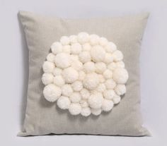 Amazing Pompom pillow cover by Pillowation