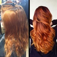* Formulas & HOW-TO: Fiery Red Color Melt >>> #behindthechair #redhair