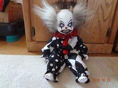 OOAK Halloween Creepy Clown Clown Doll Horror Scary Prop Demon Goth | eBay