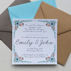 personalised summer wedding invitation set by lucy says i do | notonthehighstreet.com