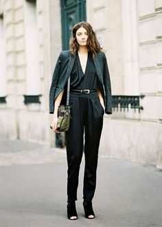 A black jumpsuit will take you from day-to-night.
