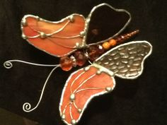 commissioned stained glass butterfly