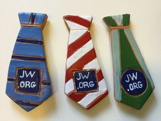 Clay Magnet ties - jw gifts