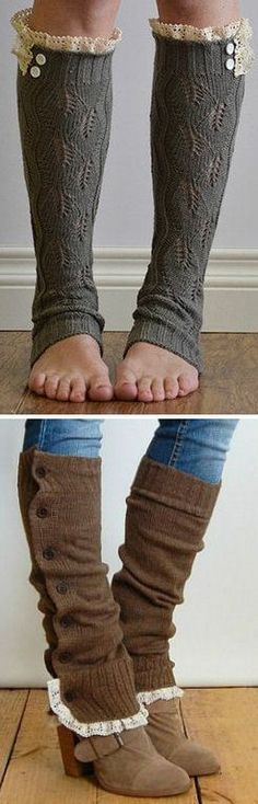 Ruffle Leg Warmers // 2 ways to wear them .. SO cUte!