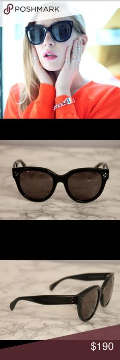 Celine CL 41755/S Audrey Sunglasses Brand new Celine CL 41755/S Audrey Sunglasses  Available in brown or black. Classic oversized rounded shape. Brand new with case and cleaning cloth Size 55-22-145 100% authentic - made in Italy Celine Accessories Sunglasses