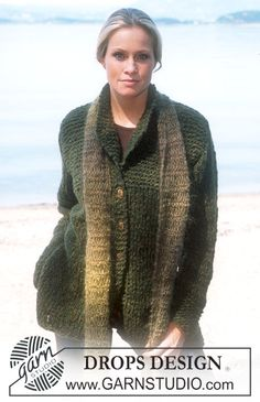 DROPS 79-10 - DROPS Cardigan and Scarf in Vienna - Free pattern by DROPS Design