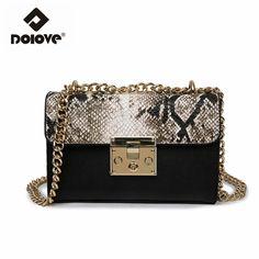 44e98ade754e Dolove Новинка 2017 цепи женщин сумка Leopard сумка Модные одно плечо косой  крест пакет Сумки На