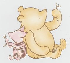 """3.5"""" disney classic pooh & piglet wall border prepasted character cut out"""