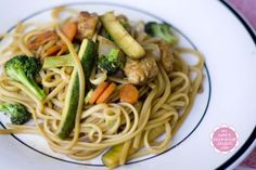 Chicken Lo-Mein(ish)  - Use g-free noodles and tamari sauce to make gluten free