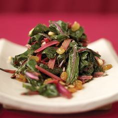 This warm salad is both healthy and flavorful.