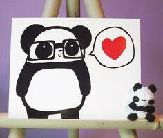 Nerdy panda. $10.