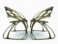 Jugendstil Art Nouveau butterfly chairs by Eduardo García Campos