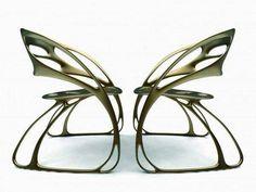 Jugendstil Art Nouveau butterfly chairs by Eduardo García Campos