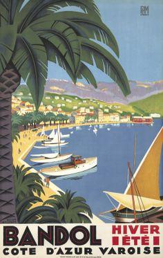 Bandol. 1932 Roger Broders