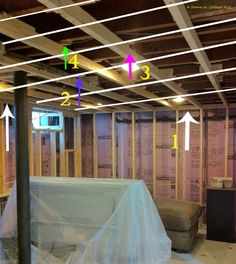 how to fix sagging ceiling battens in old house
