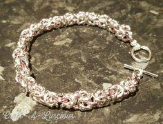 Chainmaille Bracelet, Byzantine, Uk Shop, Swag, Ice, Facebook, Bracelets, Silver, Crafts