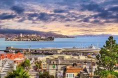 Looking over the Bay at Alcatraz - San Francisco