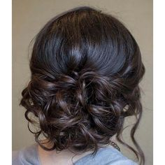 Curly Updo Prom Hairstyles ❤ liked on Polyvore featuring hair