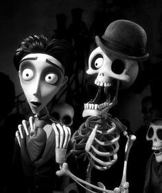 """""""Then out of the BLUE comes this groovy young man, who vows forever to be by her side. And that's the story of our CORPSE BRIDE!"""" ~Bonejangles"""