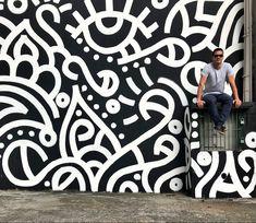 Murais   Renan Manga Mural Wall Art, Graffiti Wall, Street Art Graffiti, School Murals, Wall Decor Design, Wall Drawing, Popular Art, Environmental Design, Paint Designs