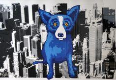 "Limited Edition Print ""Big Apple Blues"" by Blue Dog George Rodrigue"