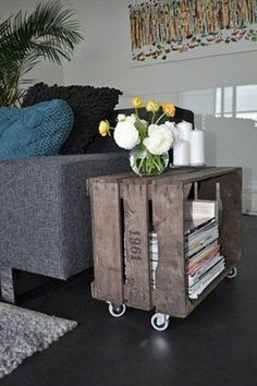 DIY Awesome Rustic Wooden Crates Projects Here we are with another DIY solution that you will love. We will present you DIY projects with wooden crates. They are so simple to be made and at the sam Wooden Crates Projects, Old Wooden Crates, Wood Projects, Craft Projects, Wooden Sheds, Wooden Crafts, Old Boxes, Diy House Projects, Pallet Furniture