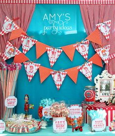 Circus Carnival Party Garland  PRINTABLE by lulucole on Etsy, $6.00