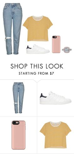 """""""Untitled #213"""" by kenzieskelton ❤ liked on Polyvore featuring Topshop, adidas Originals and Monki"""